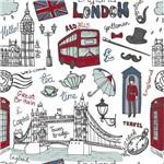 Papel de Parede Autocolante Cidade Londres Desenho 289831442