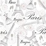 Papel de Parede Autocolante Cidade Paris Floral 533763223
