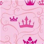 Papel de Parede Autocolante Coroa Rosa 483664594