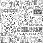 Papel de Parede Autocolante Crianças Escola para Colorir 122232