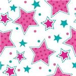 Papel de Parede Autocolante Estrela Rosa e Verde 572766272