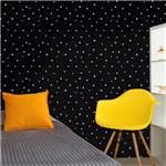 Papel de Parede Autocolante Estrelas Preto e Branco 205806058