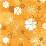 Papel de Parede Autocolante Floral Amarelo 14
