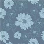 Papel de Parede Autocolante Floral Azul 210182