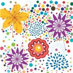 Papel de Parede Autocolante Floral Colorido 520