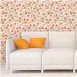 Papel de Parede Autocolante Floral Laranja 565
