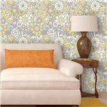 Papel de Parede Autocolante Flores Abstrato 102594851