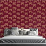 Papel de Parede Autocolante Indiano Elefante 117522841