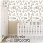 Papel de Parede Autocolante Infantil Branco 53900092