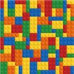 Papel de Parede Autocolante LEGO Colorido 1447