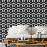Papel de Parede Autocolante Mosaico Preto e Branco