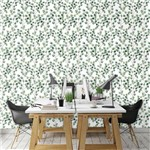 Papel de Parede Autocolante Natureza Folhas Branco 440690605