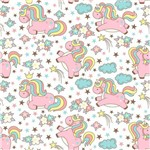 Papel de Parede Autocolante Unicornio Colorido 428194525