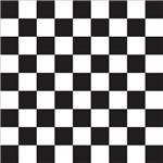 Papel de Parede Autocolante Xadrez Branco e Preto 050914