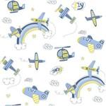 Papel de Parede Aviao Azul Bobinex Bambinos 3306