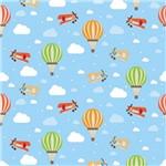 Papel de Parede Balões e Aviões para Quarto Infantil