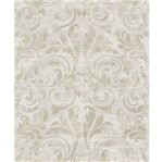 Papel de Parede Beautiful Home Arabesco Vinilico Creme e Cinza