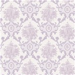Papel de Parede Beautiful Home Arabesco Vinilico Gelo e Lilas