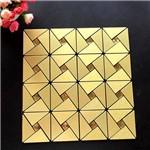 Papel de Parede 3d Adesivo Dourado para Cozinha e Banheiro