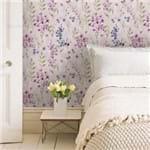 Papel de Parede Delicado Floral Lilás - P