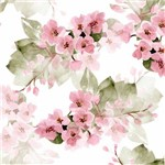Papel de Parede Floral Adesivo Flores Rosa Lavável - N4540