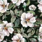 Papel de Parede Floral Clássico Fundo Preto - P