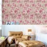 Papel de Parede Floral Delicado Tons Pastéis Rosa Claro - P