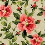 Papel de Parede Floral Desenho Cores Vivas Bege - P