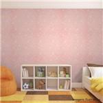 Papel de Parede Floral Rosa e Branco