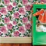Papel de Parede Floral Rosa Pintura - P