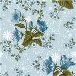 Papel de Parede Flores Azul Claro - P
