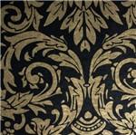 Papel de Parede Hayman Floral Vinilico Preto e Dourado