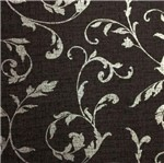 Papel de Parede Hayman Floral Vinilico Preto e Prata