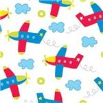 Papel de Parede Infantil Nuvens e Aviões 2,70x0,57m