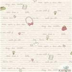 Papel de Parede Infantil Vinilico Baby Charmed Letras Kantai