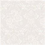 Papel de Parede Jade Texturizado Branco Bege Floral Kantai