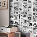 Papel de Parede Jornal Vintage