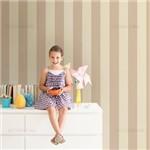 Papel de Parede Listrado 10cm Infantil Rosa Queimado e Bege - P