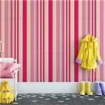 Papel de Parede Listrado Infantil Pink - P