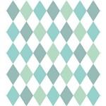Papel de Parede Losangos Tons de Verde com Brilho Perolado Bobinex Renascer 6244 Vinílico