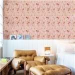 Papel de Parede Mini Rosas Delicadas Cor Rosa Claro - P