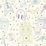 Papel de Parede Musica Vintage Adesivo 2,70x0,57m