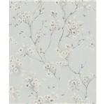 Papel de Parede Paris S Floral Cinza