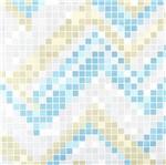 Papel de Parede Pop Pastilhas Vinilico Azul e Dourado