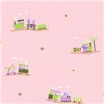 Papel de Parede Rainbow Sugar Trem Rosa e Verde