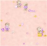 Papel de Parede Rainbow Sugar Urso Rosa e Marrom