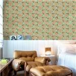 Papel de Parede Rosas e Florzinhas Verde Claro - P