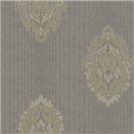 Papel de Parede Saint Baroque Sb 13106 - Estampa com Aspecto Têxtil, Listrado, Damask