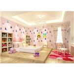 Papel de Parede Vinílico Importado 10m×53cm Flozen Disney Rosa Menina Alta Qualidade Luxo
