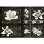 Papel Decoupage 34,3x49cm Flores Brancas PD-367 - Litoarte